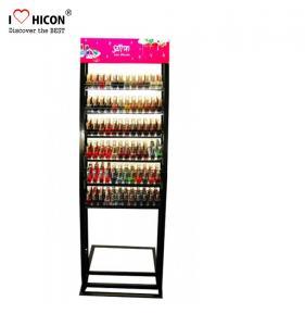 Floorstand Metal Cosmetic Display Stand ,  Makeup Nail Polish Display Stand Manufactures
