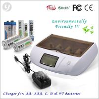 Blue Rechargeable Universal 110v Dc Alkaline Battery Charger / Battery Regenerator Manufactures