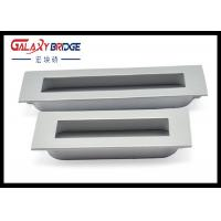Pearl Silver Recessed Flush Cabinet Pulls Zinc  Square 96mm Wardrobe Handles Furniture Hardware Manufactures