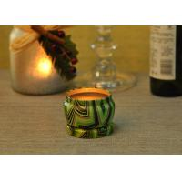 Eco Friendly Tin Candle Holders Anti Thermal Candle Wax Shock Resistant Manufactures