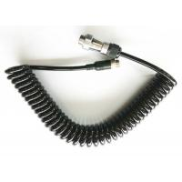High Elasticity 7 Pin Spiral Power Cable Suzie Cable For Trailer / Wagon Manufactures