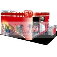 China 4D movie theater with movie poster , advertisement cinema cabin on sale