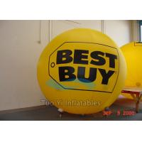 Eye - Catch Yellow Branded Helium Balloons 3M Diameter For Trade Show Manufactures