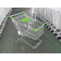 125L Supermarket Shopping Cart Zinc Plating 4 Inch Rubber Wheel Manufactures