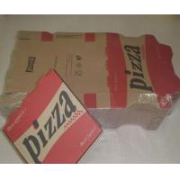 """Quality 13"""" Corrugated + Coated Paper Pizza Packaging Box With 4 Color Printing for sale"""