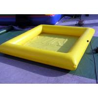 Yellow 0.9mm PVC Tarpaulin Inflatable Family Pool , Cassia Seed Guardrail Manufactures