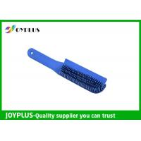 Customized Color Rubber Dog Brush , Dog Cat Cleaning Brush TPR Material PC0330 Manufactures