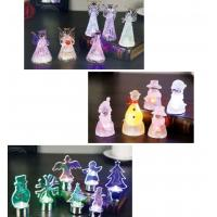 Snow Shape Color Changing Led Night Light , Acrylic Led Snowman For Outdoor