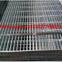 Building Materials Hot Dipped 32 x 5mm Galvanized Steel Grating Manufactures