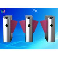 Rfid Indoor Optical Turnstile Flap Barrier Gate Two Directions Controlled Manufactures