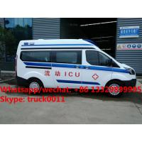 Quality 2017 best seller  Euro 5 diesel emergency ambulance bus for sale, factory sale best price ICU ambulance vehicle for sale