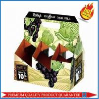 high quality food packaging color carton wine boxes with custom logo print Manufactures
