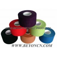 Color Pack Cotton Adhesive Sports Rigid  Strapping Tape Athletic Trainer's Tape Manufactures