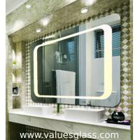 4mm Polished Silver Mirror LED Bathroom Mirrors With Touch Scree Switch Manufactures