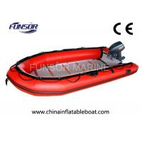 Quality Large Rubber Inflatable Rescue Boat Six Person Inflatable Boats With Plywood Floor for sale