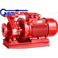 China ISW Horizontal Pipe Inline Water Booster Pump Red Color 10~125 m Head on sale