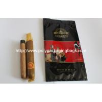 custom made printed plastic cigar packaging bag / cigar humidor bag with slid zip lock Manufactures