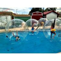 Crystal Clear Water Walking Ball Inflatable Water Bubble Ball , Human Sized Manufactures