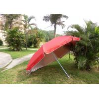 Red Outdoor Advertising Umbrellas With 420D Polyester Fabric , Water Tank Base Manufactures