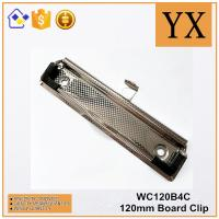 Clipboard Accessories 120mm High Quality Checkered Nickel Plate Metal Clip Manufactures