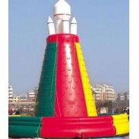 PVC Tarpaulin Mobile Giant Inflatable Sports Games Climb Wall Customized Size Manufactures