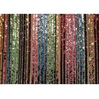Custom Made Stretch Colorful Sequin Fabric Rainbow Type Smooth Surface Manufactures