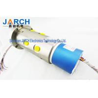 Aluminium Alloy Pneumatic Electric Hybrid Slip Ring Through Bore Slip Ring 300mm Lead Length Manufactures