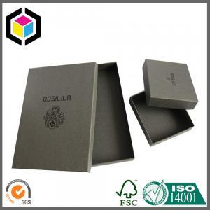 Chipboard Matte Black Color Spot UV Logo Cardboard Paper Gift Box for Shirt Manufactures