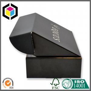 Luxury Matte Black Custom Print Corrugated Cardboard Hat Shipping Box Manufactures