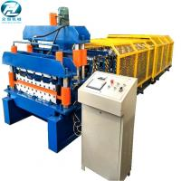 Full Automatic Double Glazed Tile Roll Forming Machine With Wave Pressing Manufactures