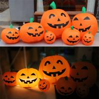 2 Feet Inflatable Toy Funny Orange Inflatable Pumpkin With Grimace For Halloween , Decoration , Activity Manufactures