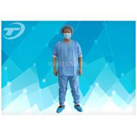 Lightweight Anti - Blood Disposable Scrub Suits S - 4XL For Hospital Manufactures