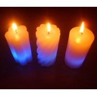 Light Activated Pillar Flameless LED Candles Rainbow Color Changing Eco Friendly