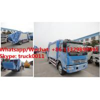 HOT SALE! dongfeng 4*2 LHD 7cbm garbage compactor truck, Factory sale good price dongfeng 7m3 compacted garbage truck Manufactures