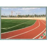 Unique Fibrillated Structure Soccer Artificial Grass 12000 Dtex Fullness Surface Manufactures