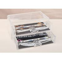 Two Drawers JewelleryOrganizer Box Plastic Crystal PS 198 x 102 x 93mm Manufactures