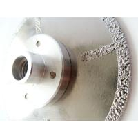 China Fast Cutting Vacuum Brazed Diamond Blades With Flange , Diamond Saw Blades For Stone on sale