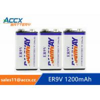 fire detector battery 9v 1200mAh long self life more than 10 years with high quality Manufactures