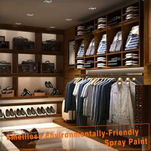 Modern wood retail menswear shop interior design Manufactures