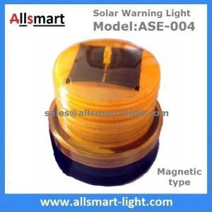 4LED Red Flash Solar Powered Magnet Signal Lights Traffic Barricades Lamp Solar Metro Construction Blink Led Lighting Manufactures