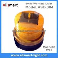 Amber Solar Powered Magnet Signal Light Flashing Traffic Obstacle Barrier Warning Lights for Tower Crane Truck Car Boat Manufactures