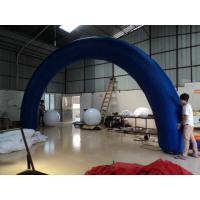 Large Blue PVC Tarpaulin Promotional Inflatable Arch For Opening Ceremony Manufactures
