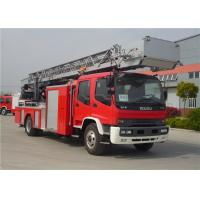 Hydraulic System Fire Rescue Ladder Truck , Speed Ratio 1.15 Hook And Ladder Fire Truck Manufactures