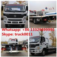 BEST PRICE FOTON AUMARK road recovery truck tow truck for sale, factory direct sale FOTON 4*2 LHD Flatbed towing truck Manufactures