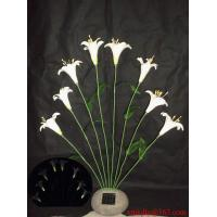 China Solar White Lily On Poly Resin Stone on sale
