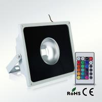 IP65 remote controlled RGB color led floodlight 50W Manufactures