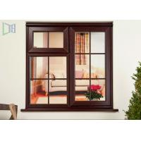 Quality Wood Color Double Glazed Casement Windows Energy Saving Waterproof / Soundproof for sale