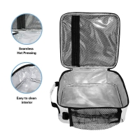 Portable Lightweight Reusable Marble Insulated Lunch Tote Bag Manufactures