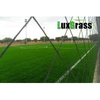 China LuxGrass Sport Green Synthetic Grass For Soccer Fields Abrasion Resistance PE Material Football Artificial Grass on sale