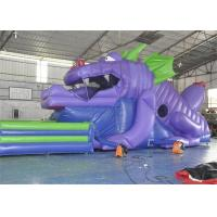 Customized Size Commercial Inflatable Slide, 18ft Inflatable Dinosaur Slide For Kids Manufactures